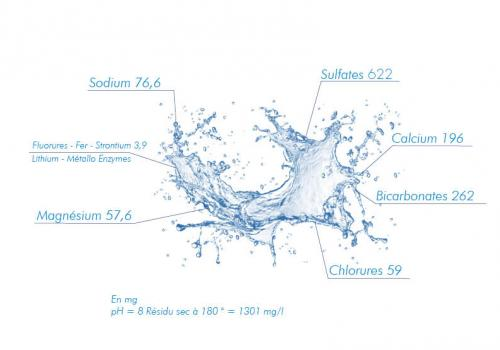 composicion Agua termal de Castéra-Verduzan